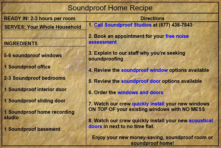 Soundproof room recipe