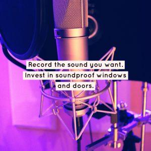 home recording studio graphic