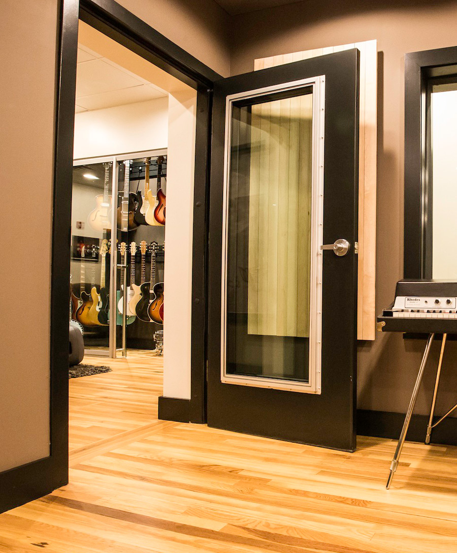 Acoustical steel doors for home recording studios - Soundproof french doors exterior ...